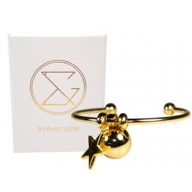 Bracelet Bola de grossesse or lisse - JADE (Etoile)