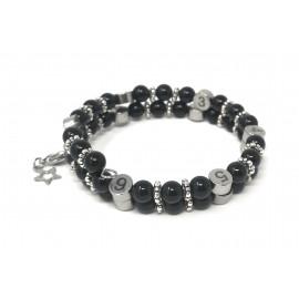 Bracelet d'allaitement pierre naturelle - Obsidienne