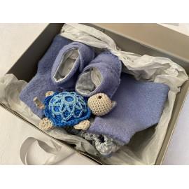 """Coffret naissance """"Petite tortue bleue"""""""
