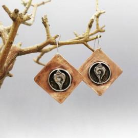 Boucles d'oreille - Cuivre et argent - Shankha