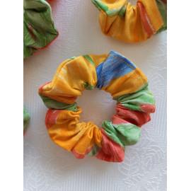 Chouchou coton multicolore.