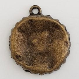 Breloque capsule Bouteille N°00 cuisine Bronze