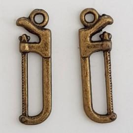 Breloque Outil Scie N°01 Bronze