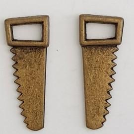 Breloque Outil Scie N°02 Bronze