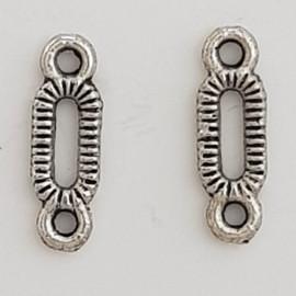Breloque Barre 2 anneaux N°03 Argent