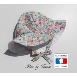 Chapeau bob bébé liberty Betsy Porcelaine ( baby summer hat )