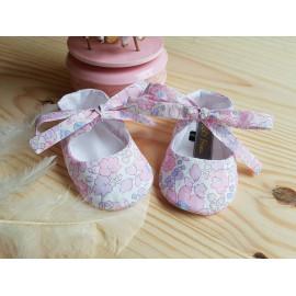 Chaussons ballerines pour bébé en coton liberty Betsy Buvard