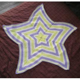 couverture / plaid bébé étoile au crochet