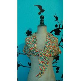 châle multicolore en coton