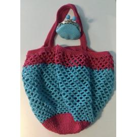 box cadeau shopping contenant un sac filet et un porte monnaie