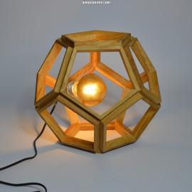 PAGONG // lampe design en bois, en forme de dodécaèdre 33cm