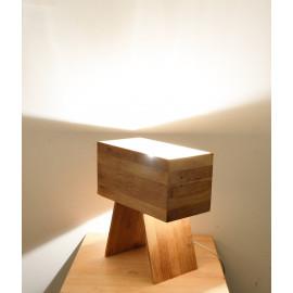 Drillin // Lampe en bois de design rectangulaire