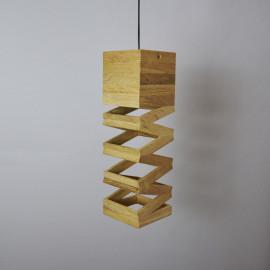 Accordeon // Lampe design suspension en bois
