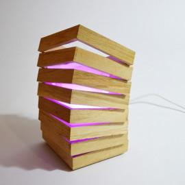 Mabell // Lampe design à poser en bois de chêne 25 cm