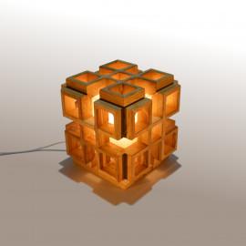 Infinity // Lampe carré design en bois