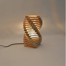 Lampe à poser design en bois de chêne 'Rodron'