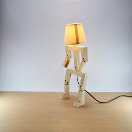 Hat // Lampe bonhomme articulée design en bois de chêne 48cm