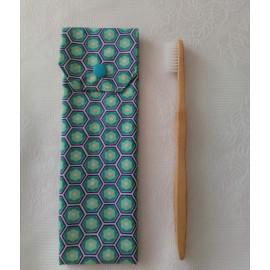 Etui à brosse à dents - Coton enduit & coton