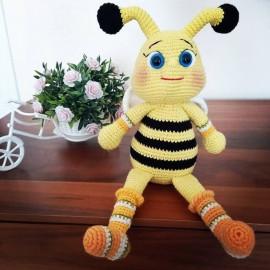 Peluche abeille Amigurumi (fait main)