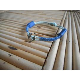 Bracelet cordon tissé pour hommes bleu et ancre marine, cadeau pour lui.