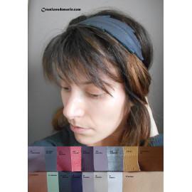 Bandeau plume en cuir personnalisable pou femmes, headband bohème mariage, cortège.
