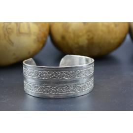 Bracelet manchette - Effet Filigrane
