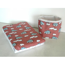 Couverture pour bébé et sa panière de rangement, corbeille en tissu