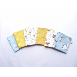 serviette de table 30x30 cm cantine maternelle nounou original au choix doublé nid d'abeille zéro déchet écologique