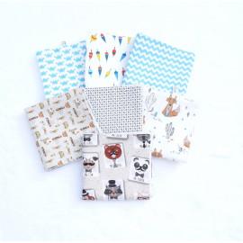 serviette de table 30x30 cm cantine maternelle nounou original au choix doublé nid d'ab Zéro déchet écologique