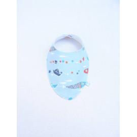 """Bandana Bavoir foulard 0/24 mois """"bateau sur l'eau"""""""