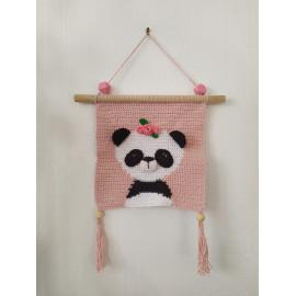 Décoration chambre panda, suspension murale PANDA