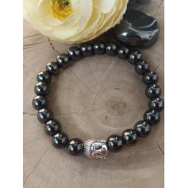 Bracelet homme HEMATITE, pierres naturelles (Djimy)