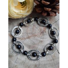 Bracelet OBSIDIENNE, pierres naturelles (Urielle)