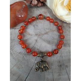 Bracelet en CORNALINE, pierres naturelles (Mona)