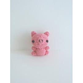 Porte clés cochon, crochet peluche miniature, fait main, cadeau anniversaire
