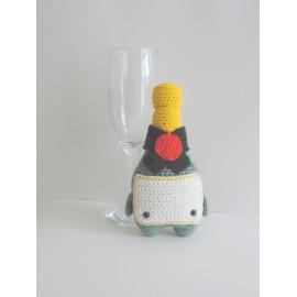 Bouteille de champagne décoration intérieur idée cadeau fait main