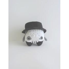 Squelette peluche decorative, coton, fait main, idée cadeau anniversaire, fête halloween