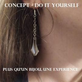 Concept - Do it Yourself - Boucles d'oreille en argent