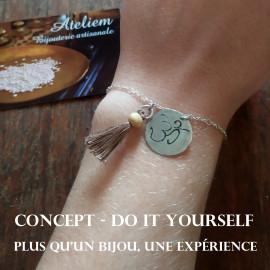 Concept - Do it Yourself - Bracelet avec médaillon - Argent