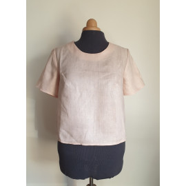 Blouse LOUISE Lin Rose Pâle