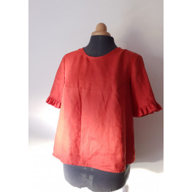 Blouse LOUISE lin terracotta
