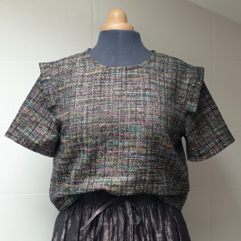 Blouse JADE tweed lurex