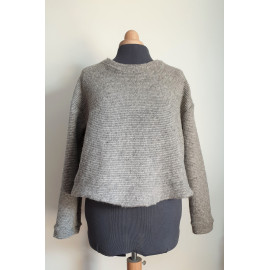 Pull HUGO lainage gris chiné