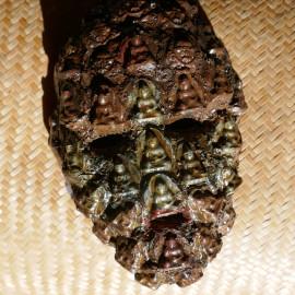 Masque cérémoniel composés des divinités d'argile TsaTsas (3)