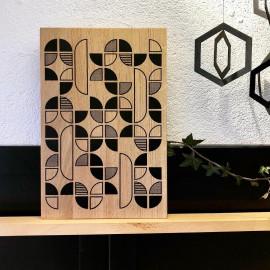 planche à découper d'inspiration Bauhaus