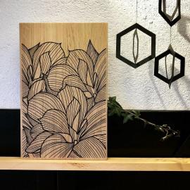 planche à découper Fleurs graphiques