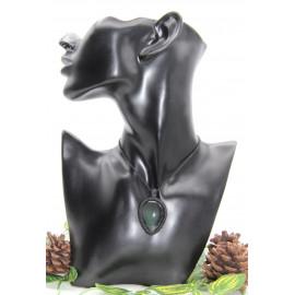 Collier • Obsidienne Œil Céleste • Macramé