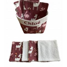 Lingettes lavables + Panière