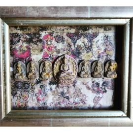 Tableau énergétique de décoration méditative - bouddhas primordiaux