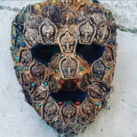 Grand Masque cérémoniel composés des divinités d'argile TsaTsas (4)